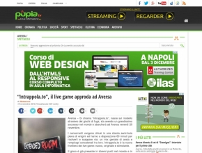 "Pupia - ""Intrappola.to"", il live game approda ad Aversa"