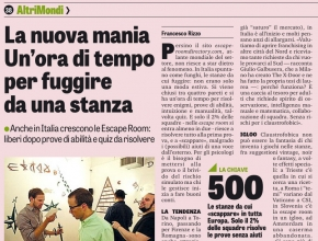 Gazzetta dello Sport - La nuova mania di Intrappola.to: un'ora di tempo per fuggire da una stanza