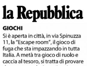 La Repubblica - Palermo - Si è aperta in città l'escape room, il gioco di fuga di Intrappola.to