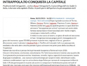 Informazione.it - Intrappola.to conquista la capitale