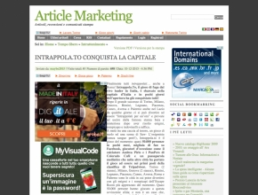 Article Marketing - Intrappola.to conquista la capitale