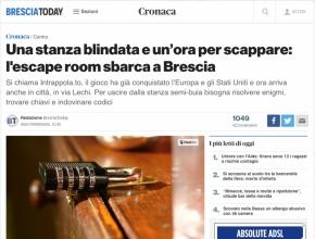 Brescia Today - Una stanza blindata e un'ora per scappare