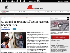 Adnkronos - 50 enigmi in 60 minuti, l'escape-game fa boom in Italia