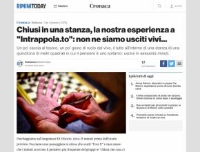 """Rimini Today : Chiusi in una stanza, la nostra esperienza a """"Intrappola.to"""""""