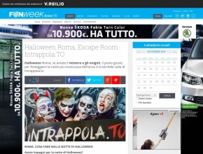 Funweek - Halloween Roma, Escape Room Intrappola.TO