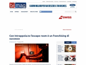 Bimag.it - Con Intrappola.to l'escape room è un franchising di successo