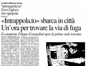 La Nazione - Viareggio: Intrappola.to sbarca in città