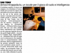 Il Gazzettino - Arriva Intrappola.to, un locale per il gioco di ruolo e intelligenza