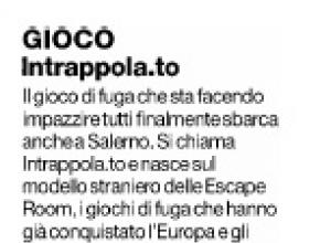 Il Mattino Salerno - Intrappola.to: il gioco di fuga che sta facendo impazzire tutti