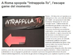 LazioinGol - A Roma spopola Intrappola.to, l'escape game del momento