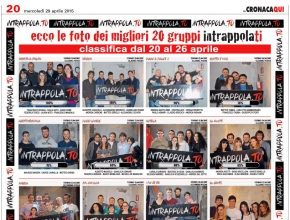 CronacaQui - Ecco le foto dei migliori 20 gruppi Intrappola.ti