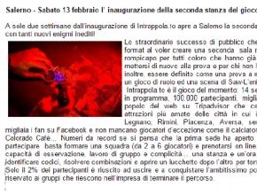QuasiMezzogiorno - Salerno, l'inaugurazione della seconda stanza del gioco Intrappola.to