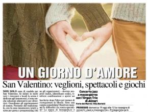 La Nazione - San Valentino: veglioni, spettacoli e Intrappola.to