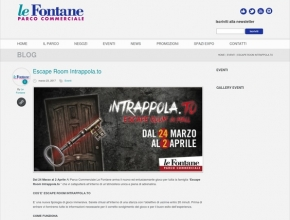 Parco commerciale Le Fontane - Escape Room Intrappola.to