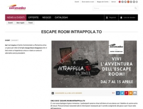 La Romanina - Arriva l'escape Room di Intrappola.to in Mall dal 7 al 15 aprile!