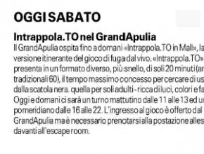La Gazzetta del Mezzogiorno - Intrappola.to nel GrandApulia