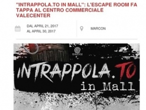 Plannify - Intrappola.to In Mall: l'escape room fa tappa al centro commerciale VALECENTER