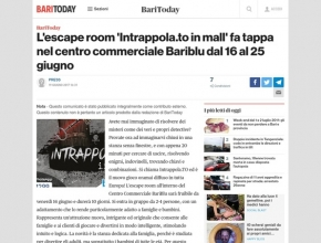 Bari Today - L'escape room 'Intrappola.to in mall' fa tappa nel centro commerciale Bariblu dal 16 al 25 giugno