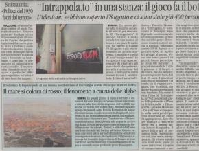 Il Corriere di Romagna - Intrappolato in una stanza: il gioco fa il botto