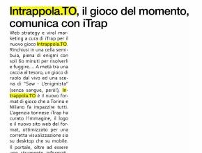 www.pubblicomnow-online.it - Intrappola.to, il gioco del momento, comunica con iTrap