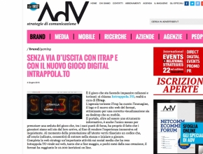 Advertiser.it - Senza via d'uscita con iTrap e con il gioco digital Intrappola.to